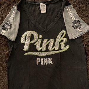 PINK logo sequin tee